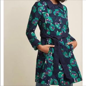 ModCloth Delightful Direction Trench Coat in Navy